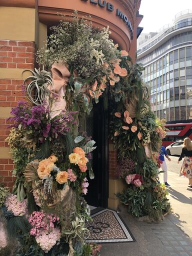 Gold Award Winning Floral Archway created by Linda Cottee Flowers