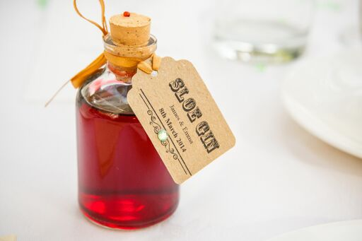Sloe Gin Wedding Favour