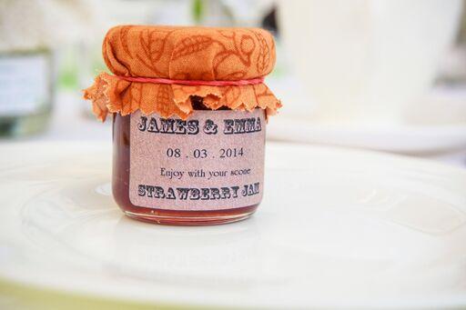 Strawberry Jam Wedding Favour