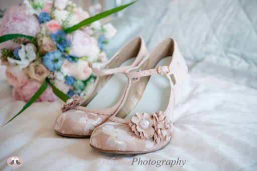 Brides Rose Gold Vintage Ruby Shoo Mary Jane Wedding Shoes