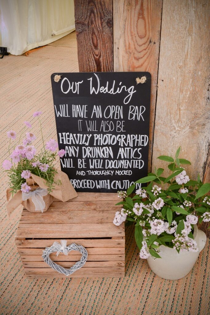 Wedding sign