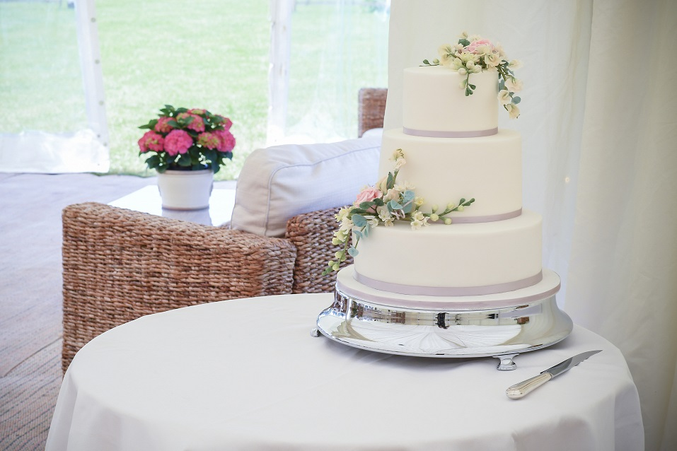 Wedding Cake on table