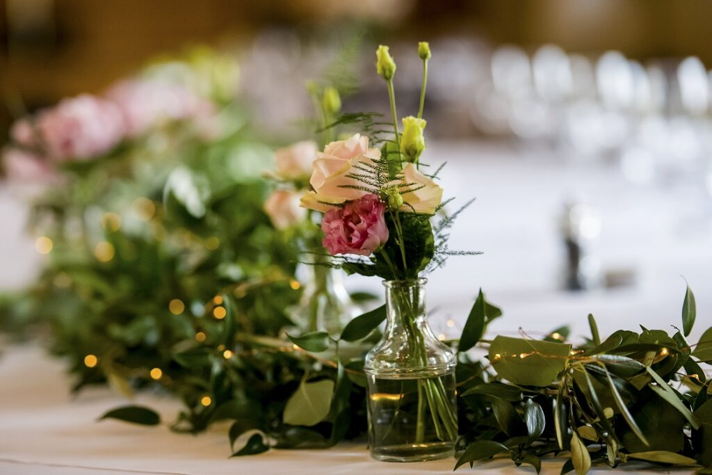 Intricate mini vase centrepiece