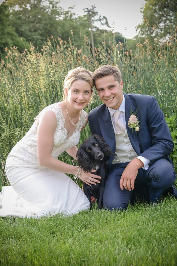 Bride, Groom and their little dog