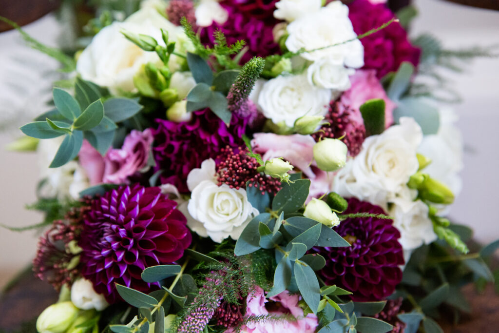 Close up of wedding flowers