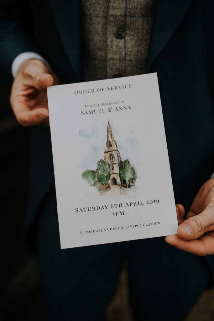 Order of Service Wedding Stationery