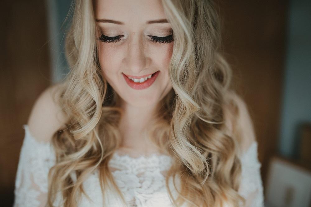 Bride makeup close up