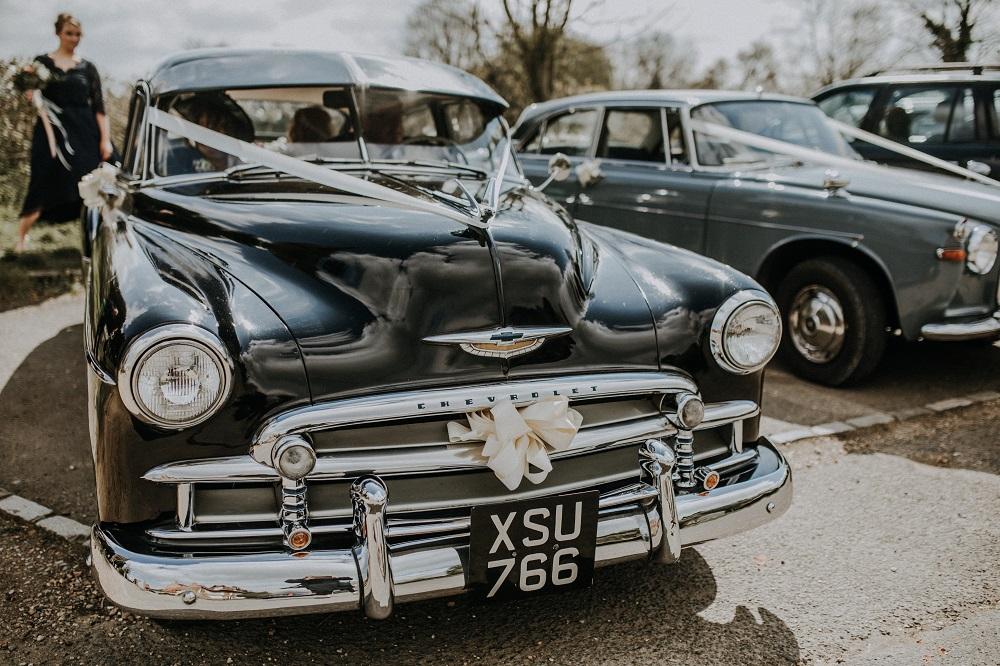 Black Chevrolet Wedding Car