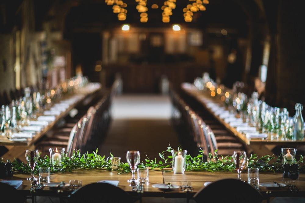 Wedding Breakfast long table decor