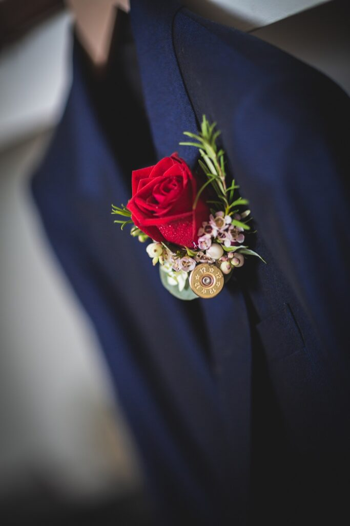 Close up of Groom's buttonhole