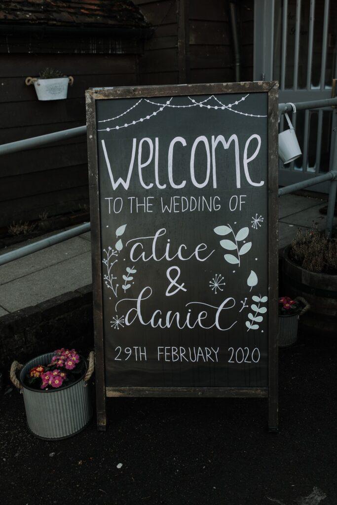 Leap Year wedding sign