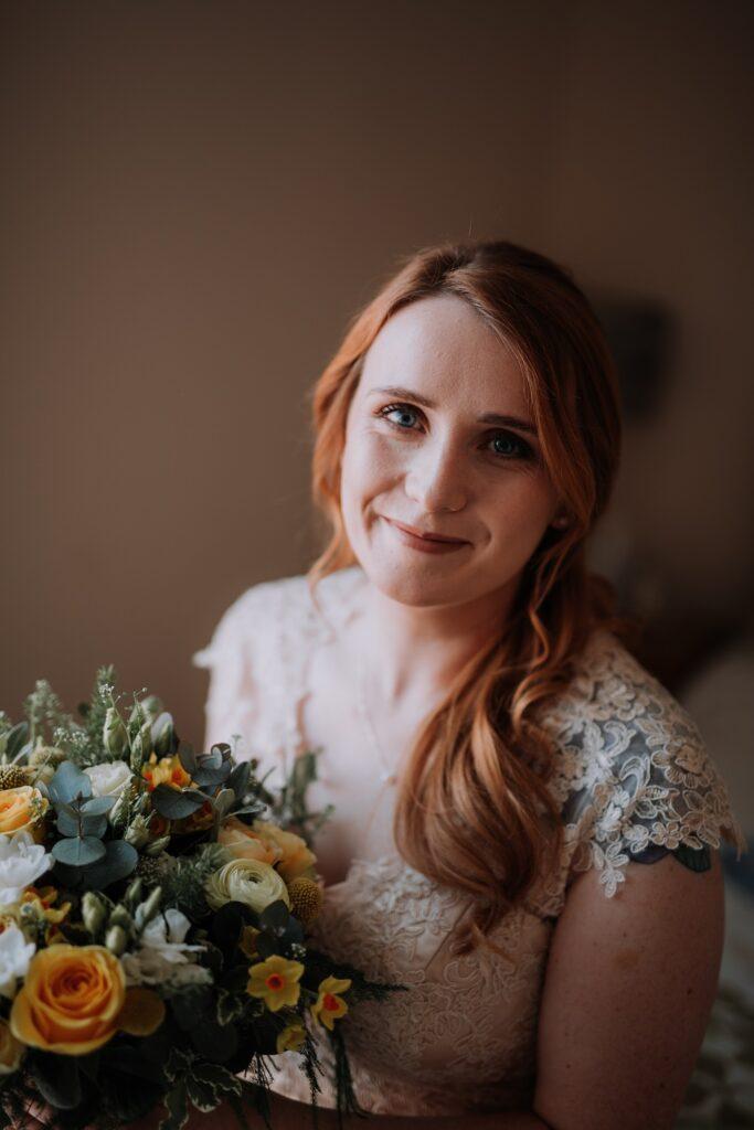 Close up image of Bride