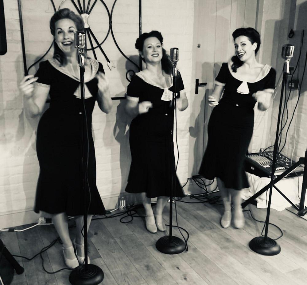 Evening entertainment - The Swingettes singing Songbird.