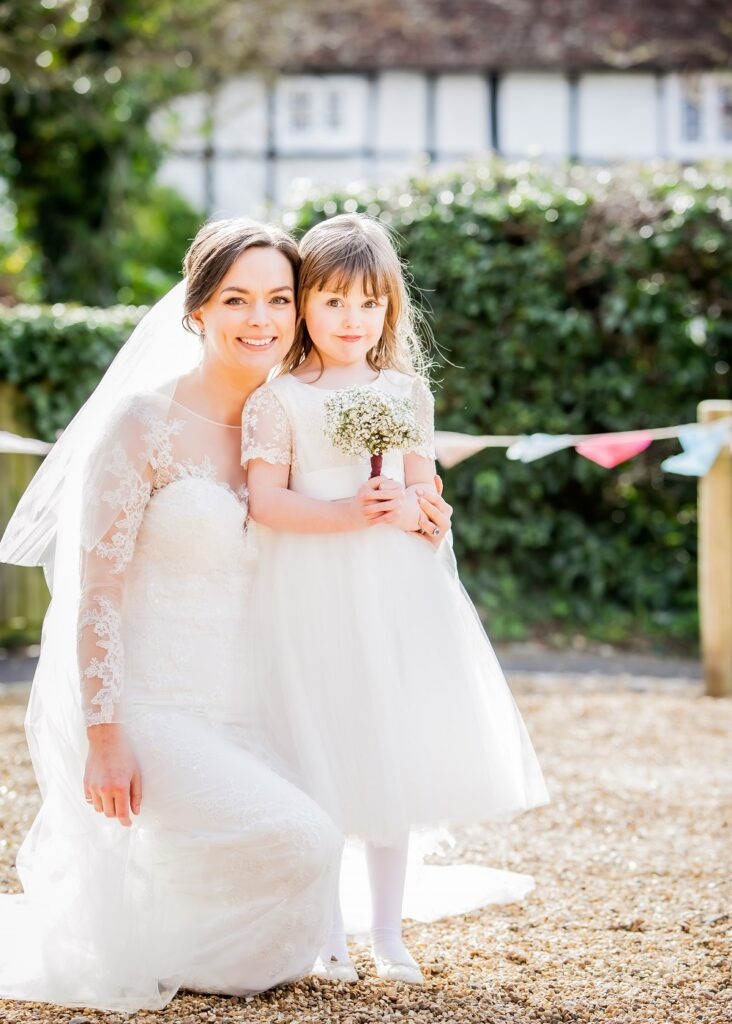 Bride with Flowergirl