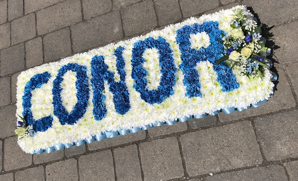 Name funeral floral board
